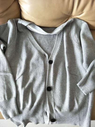 针织衫女开衫短款2018春装新款灰色长袖宽松外搭毛衣外套秋冬加厚 黑色 M 晒单图