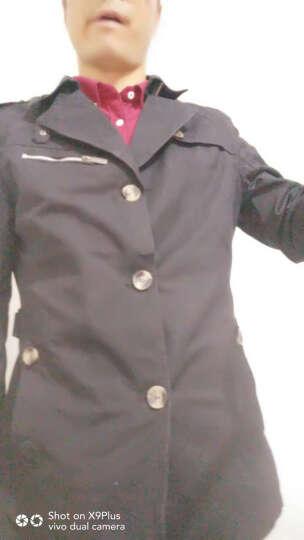 牧树人 夹克风衣外套男 2017春春款 男士中长款商务休闲修身加绒翻领大衣 卡其色 5XL 晒单图