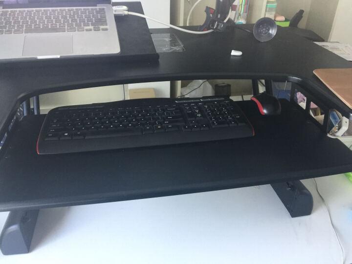 Brateck 站立办公升降台式电脑桌 台式笔记本办公桌 可移动折叠式工作台书桌 笔记本显示器支架台DWS04-01 晒单图