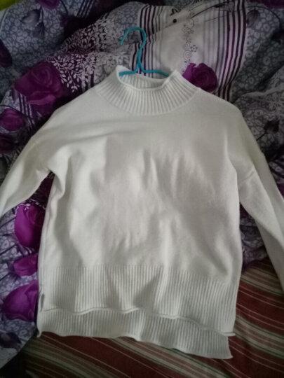 于茵  针织衫女2018秋冬季新品高领毛衣女长袖套头基础百搭加厚打底衫JJBE003 白色 M 晒单图