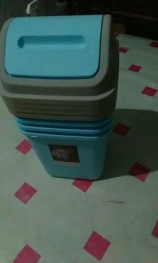 一口米 创意摇盖式大号有盖垃圾桶 家用 客厅卧室厨房卫生间家用卫生桶 带盖小号翻盖塑料垃圾收纳筒纸篓 带盖-绿色 小号 10L(23*23*32cm) 晒单图