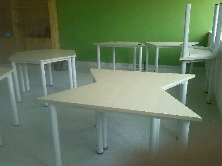 学校家具教学学生课桌幼儿园书桌椅培训洽谈桌电脑美术桌子幼师桌玩具台新款板式会议桌职员组合 一张桌子+一张凳子 晒单图