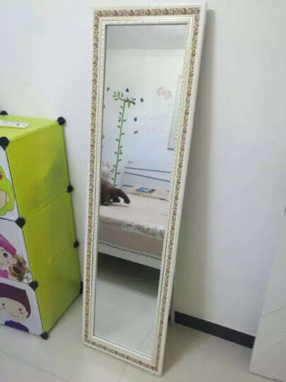 无夕阁 穿衣镜 落地 镜子 挂墙 全身镜子 落地 挂墙壁挂试衣镜 田园碎花 晒单图