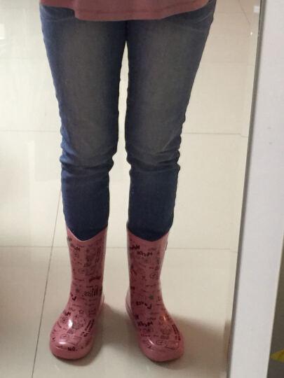 韩版雨靴女夏季防水雨鞋中筒防滑成人女水靴时尚平底学生儿童防水鞋套鞋全冬季加绒 黄色款 36 晒单图