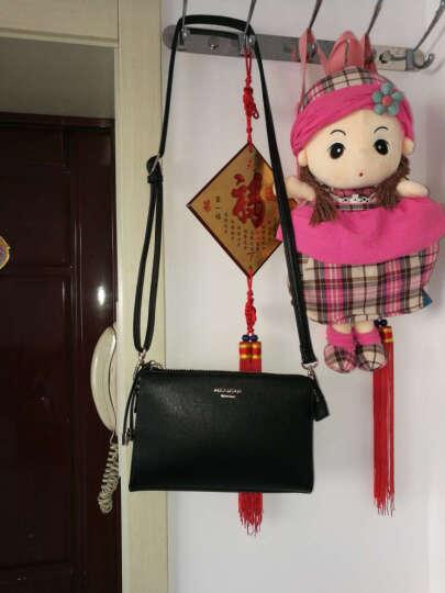 稻草人(MEXICAN)女包新款单肩包女时尚水晶拉链斜挎女包女士包包 温馨粉 晒单图