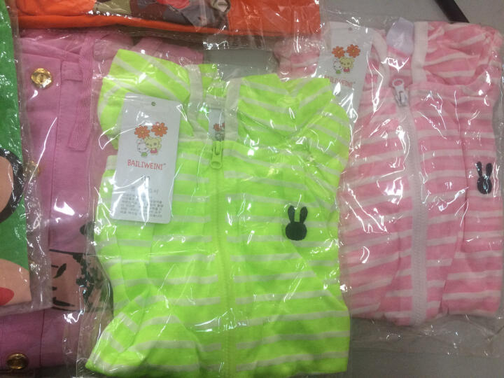 BAILIWEINI2018夏季新款  男女童棉短裤7分裤 透气舒适运动裤 褐色大嘴猴短裤 120适合身高110cm 晒单图