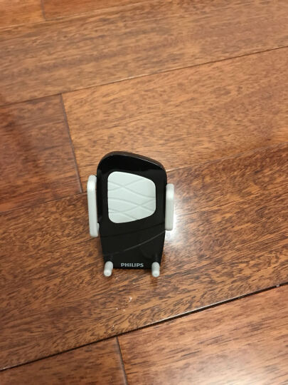 飞利浦 DLK35001 多功能手机支架夹式适用于车载/桌面/床头/汽车出风口/360度导航仪支架 黑色 晒单图