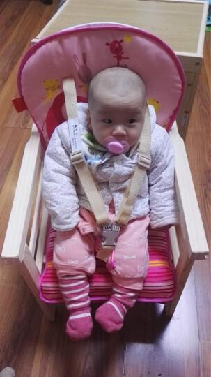 荟智(Huizhi)儿童餐椅实木二合一 婴儿餐椅儿童餐桌椅多功能婴儿餐桌可爱粉色小象坐垫HMY118H-L316 晒单图