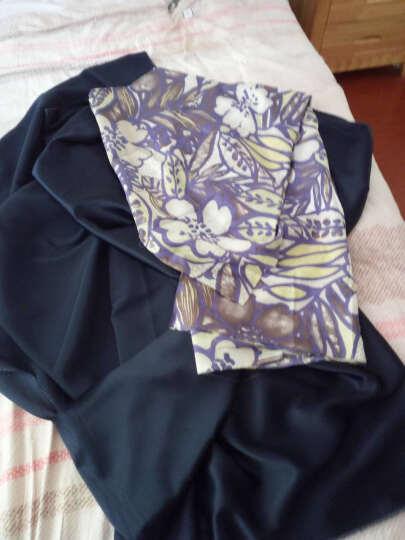 煊缎 绿蓝印花布 微透薄款 真丝棉布混纺衬衫布料制衣面料夏 1号 蓝色印花(SCP15040145) 晒单图