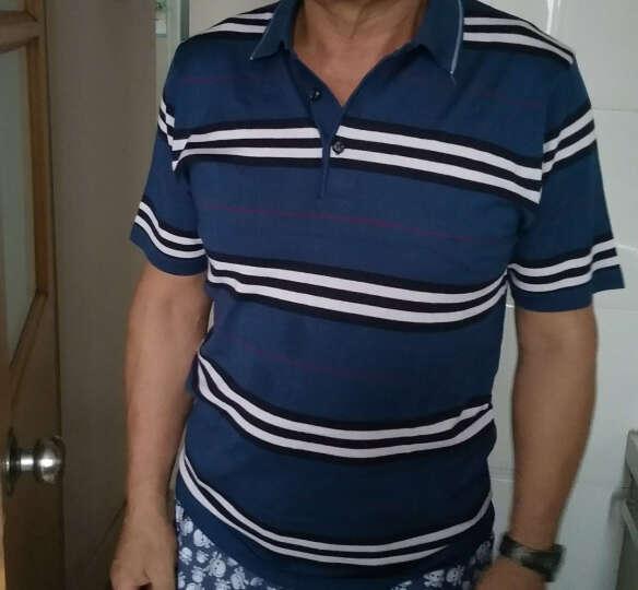 花花公子贵宾 短袖t恤男 撞色翻领商务休闲2017新款 17669/蓝色 M-105 晒单图