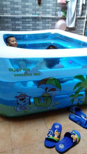 指向标 婴儿游泳池充气套装 加大加厚宝宝戏水池儿童大人家用浴缸浴盆 三层110*75*35商务套餐 晒单图