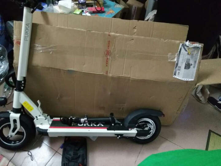 PUKKA锂电池滑板车代驾自行车便携折叠电动滑板车代步车迷你电瓶车电动滑板车成人折叠H10 暗夜黑 45公里续航 晒单图