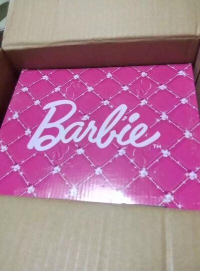 芭比 BARBIE 儿童运动鞋 毛毛虫童鞋 男女童运动鞋 1632桃红34 晒单图