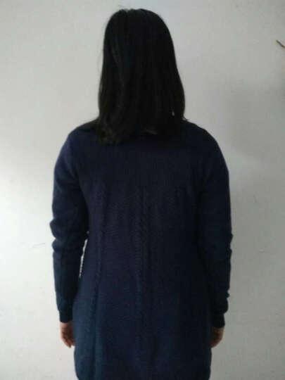 唛芭芘孕妇装秋装上衣韩版针织衫中长款圆领春秋毛衣孕妇毛衫7013 黑色 M 晒单图