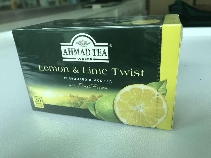 亚曼AHMAD TEA 阿联酋进口红茶 柠檬百香果草莓多种水果香袋泡红茶叶 2g*20包 百香果果香红茶 晒单图