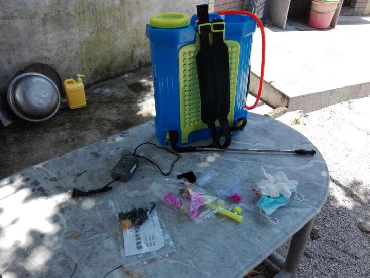 智能锂电池电动喷雾器农用农药高压充电果树打药机消毒喷雾壶 20L手柄调速双开关铅电高配 晒单图