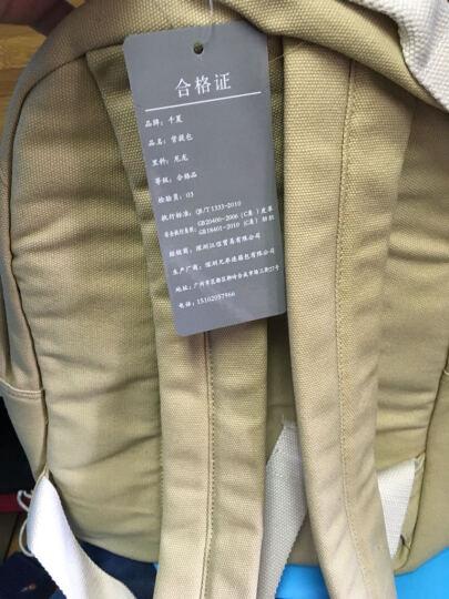 千夏 帆布包双肩包女韩版潮高中学生书包背包电脑包小清新 2420卡其色 晒单图