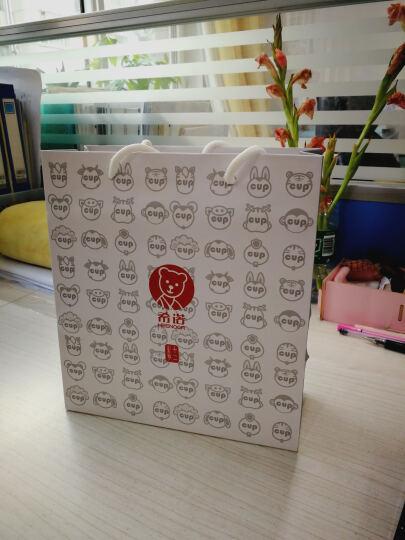 希诺(HEENOOR) 希诺 金猴保温杯 女士创意时尚双层不锈钢 生肖礼物卡通儿童水杯子 深咖色 280ML 晒单图