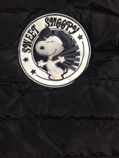 SNOOPY史努比羽绒服女童中长款过膝加厚保暖连帽上衣3-15岁女孩子中大童纯色卡通白鸭绒羽绒外套 正红 160 晒单图