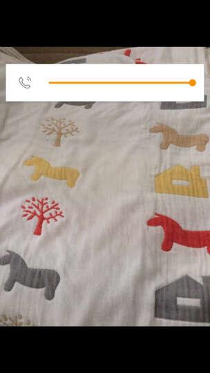 毛巾被 棉六层纱布提花单双人卡通儿童宝宝午睡盖毛毯被子 夏季办公室空调被 幸福鸟兰 120*150cm 晒单图
