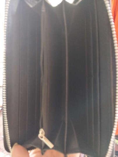 游棉帆布休闲运动男士斜挎单肩包潮流背跨小挂腰 挎包牛津布 黑色送钱包 晒单图