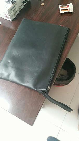 信发 TRNFA TB-300-2 A4双层皮革资料袋文件袋公文包 手提袋 拉链资料加厚拉边袋 宣传培训收纳袋 会议包 晒单图