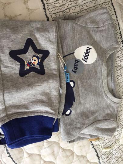 LAVLA儿童T恤男童T恤婴儿外出服 宝宝衣服针织纯棉上衣婴儿衣服 白色LH3B0120 120 晒单图