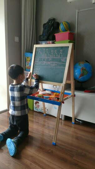 铭塔(MING TA)A7019 实木可升降儿童大画板 玩具双面黑板白板磁性写字板 绘画套装工具文具画架夹支架式 晒单图