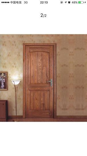 乐淘淘 原木门厂家直销美国红橡木开放漆室内门套装实木门YM113 红橡原木 晒单图