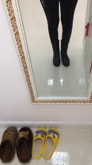 瑞蓓妮秋冬季新款真皮短靴女粗跟英伦风马丁靴时尚女鞋子圆头短靴子中筒系带大码女靴 8019皇冠棉鞋 40 晒单图