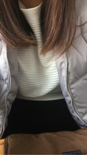 派米娅 2019夏季新款韩版大码女装V领宽松显瘦女士针织纯色上衣保暖打底衫短袖T恤女春秋 白色 XXL 晒单图