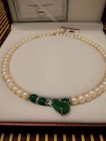 Chrvseis珠宝 思念 9-10mm淡水珍珠玛瑙项链送妈妈礼物 女 珍珠项链生日礼物 精选珠★红玛瑙银扣款 8-9mm 45cm 晒单图