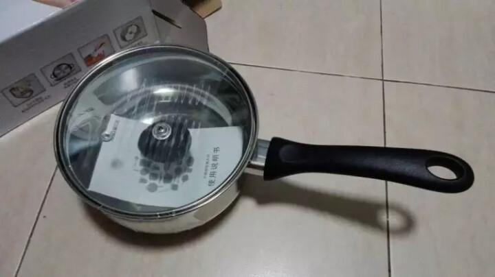 爱仕达304不锈钢奶锅16cm热奶煮面煮粥小汤锅 电磁炉通用可视锅盖C1916 晒单图