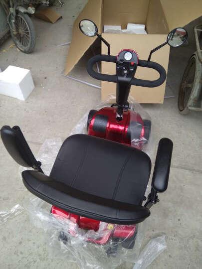 缦翎 M9S老人电动四轮车老年休闲代步车残疾人助力车智能折叠电瓶车锂电池版 晒单图
