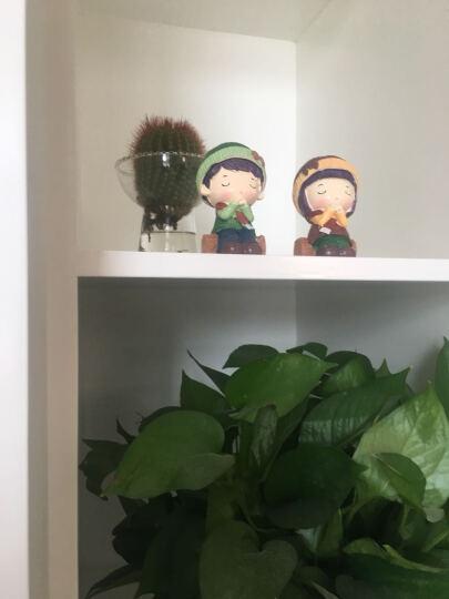 田园家居新房间装饰品小摆件可爱树脂吊脚娃娃创意卧室内人物摆设 小熊1314 晒单图