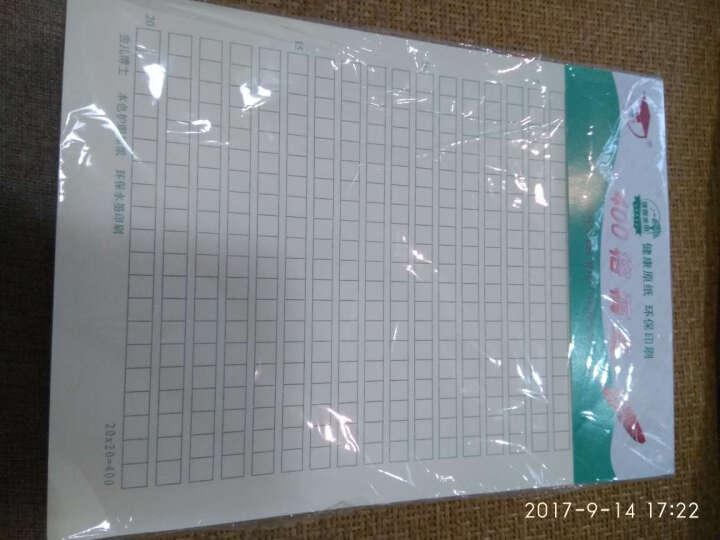 金儿博士护眼作业纸稿纸信纸16k 作文稿纸 400格作文纸稿纸 400字方格 【1包】400格稿纸[1包=3本*22张/本] 晒单图