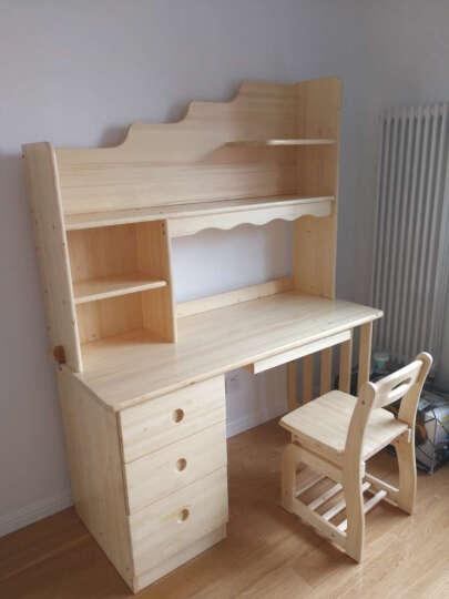 邦利达居 芬兰松木书桌电脑桌 实木电脑台写字台 1.4米电脑桌+书架+电脑椅 晒单图