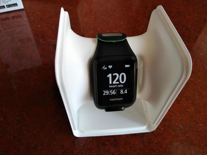 TomTom Runner3 心率款Cardio GPS光学心率腕表 跑步游泳铁三健身运动手表 黑绿色S码 晒单图