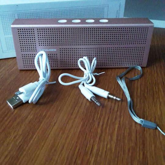 蓝悦(LEnRuE)A6pro 蓝牙音箱 双喇叭低音炮电脑音响 迷你音响 便携插卡音箱 玫瑰金 晒单图