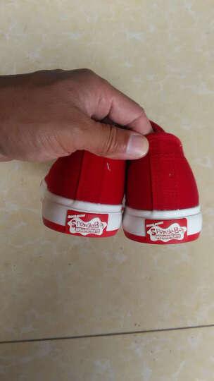 海绵宝宝童鞋儿童帆布鞋男女童春季小白鞋亲子鞋运动鞋休闲鞋学生球鞋板鞋宝宝鞋 红色 23/165码 晒单图