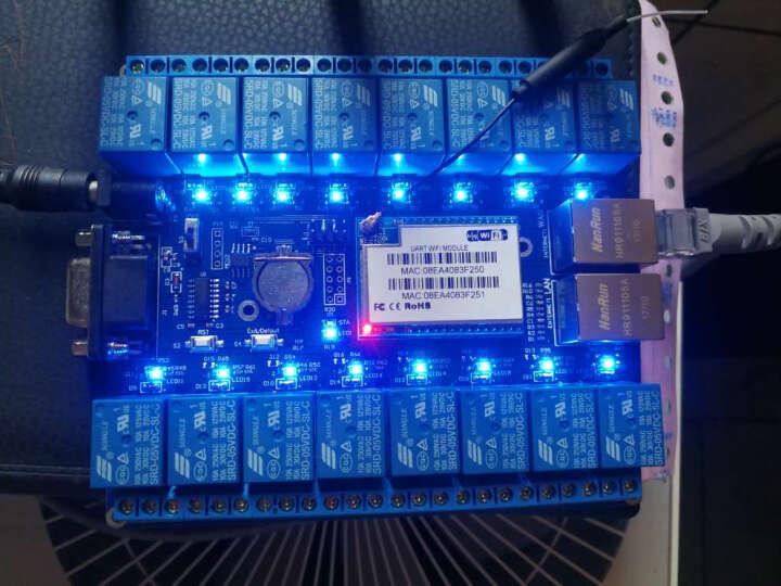 Hi-Link16路远程控制网络继电器SW16WIFI控制开关P2Pwifi控制送源码 晒单图