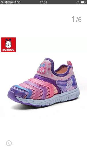 巴布豆童鞋男童毛毛虫鞋子夏季儿童运动鞋女童鞋宝宝鞋网鞋子凉鞋 墨绿 29码 晒单图