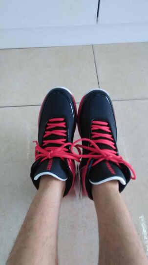 乔丹篮球鞋男鞋新款运动球鞋飞人高帮防滑耐磨战靴科比12罗斯9毒液 黑色/乔丹红2 42 晒单图