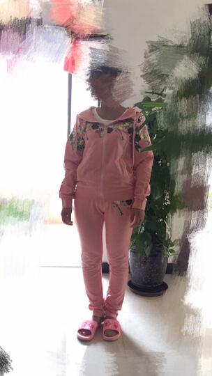 亲子装母女装春秋装 韩版童装女童连帽卫衣休闲运动套装 深蓝色 宝宝140(身高126-135cm) 晒单图