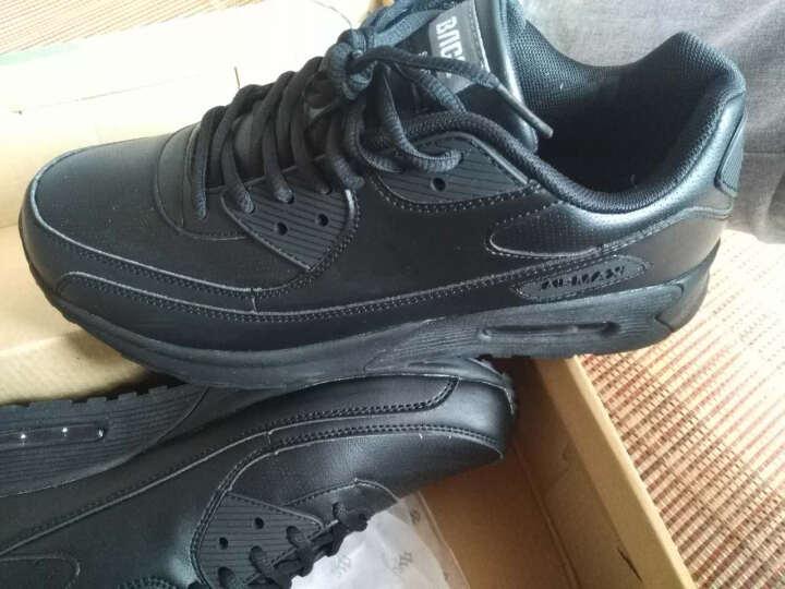 八哥(Bage)运动鞋男鞋跑步鞋冬季气垫减震慢跑鞋透气旅游鞋女 黑色 43 晒单图