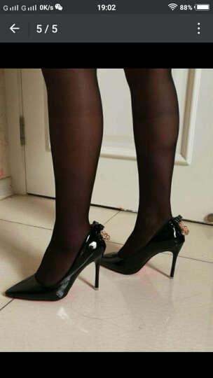 范思蒙  新款单鞋女时尚舒适优雅高跟鞋 姜黄色 39 晒单图