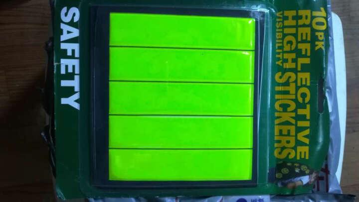 nanfeng 反光笑脸贴绿色反光贴大号带包装单车贴纸3M反光贴纸自行车笑脸贴反光贴背包贴 长条一卡10张 均码 晒单图