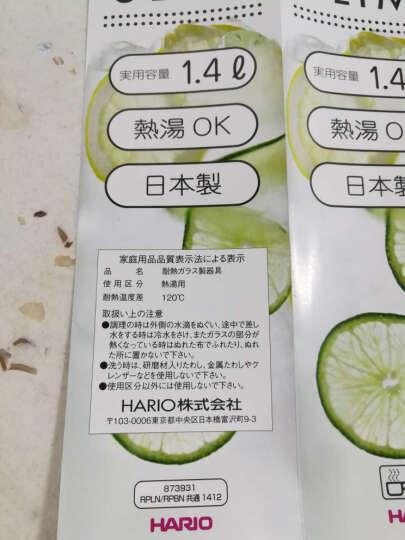 HARIO 冷水壶 日本原装进口冷水壶耐热玻璃杯壶 凉水壶 玻璃水瓶大容量果汁壶1.4L 猕猴绿 RPLN-14-GP-CEX 晒单图
