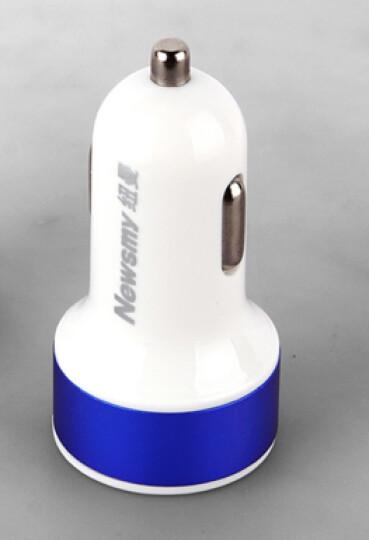 纽曼(Newsmy)车载充电器 一分二双USB口大电流输出车充 NM-4蓝色 晒单图
