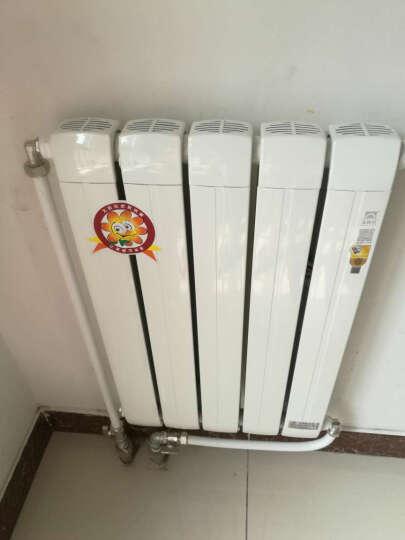 太阳花铜铝复合75*75铜福系列 单水道 家用采暖壁挂炉 散热器 暖气片 白色 白色 600MM 晒单图